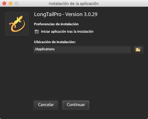 Cómo instalar Long Tail Pro paso 2