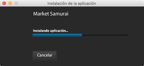 Instalación en curso de Market Samurai