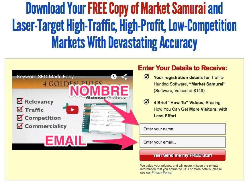 Pasos para conseguir la versión Trial de Market Samurai