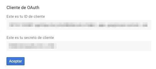 Cliente de OAuth Google Client ID