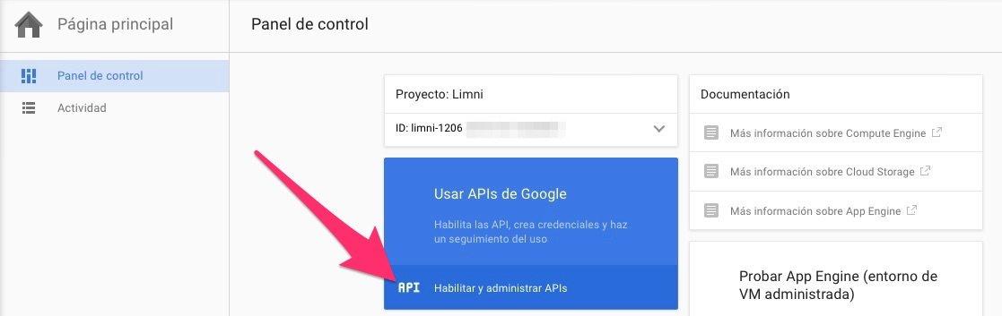 Habilitar y administrar APIs Google Client ID