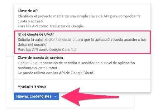 Nuevas Credenciales Google Client ID