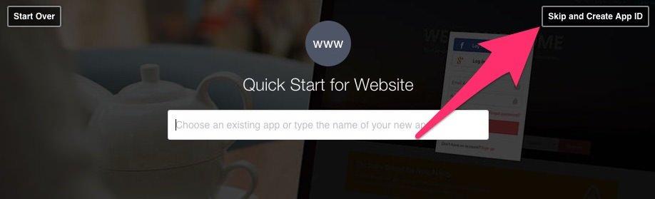 Skipt and create App ID