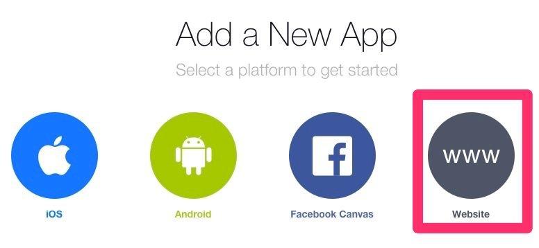 Web App Facebook