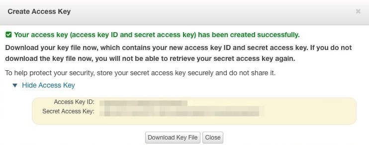 Access Key y Secret Key de Amazon Web Services