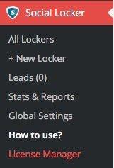 Menu Social Locker en WordPress