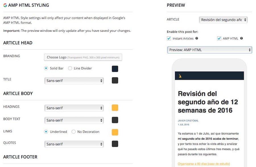 Personalizar páginas AMP con PageFrog