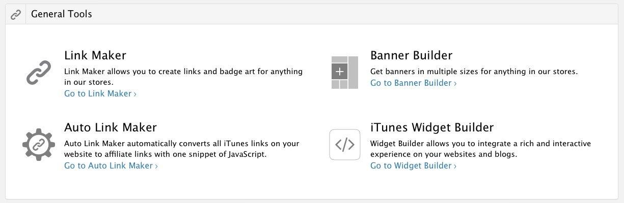 Como crear enlaces afiliados desde las herramientas de iTunes