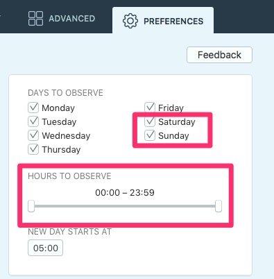Cómo monitorizar horas y dias especificos en Qbserve