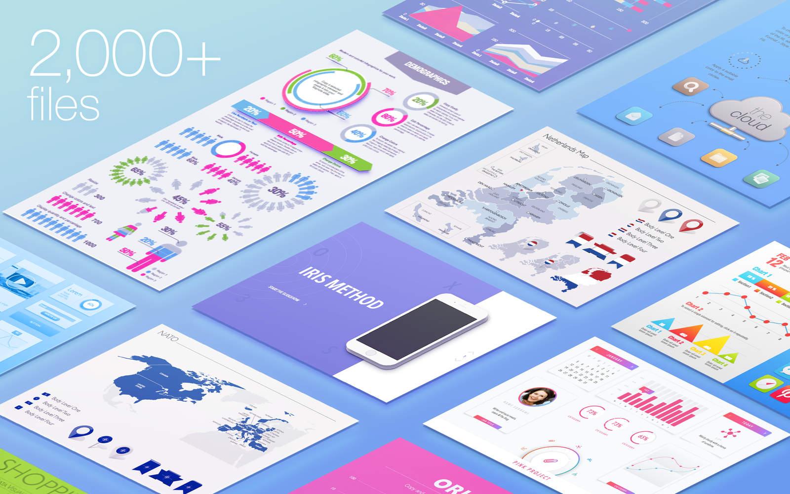 Plantillas para crear infografías en Keynote