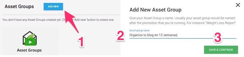 Cómo crear grupos de archivos en Thrive Leads Delivery Asset