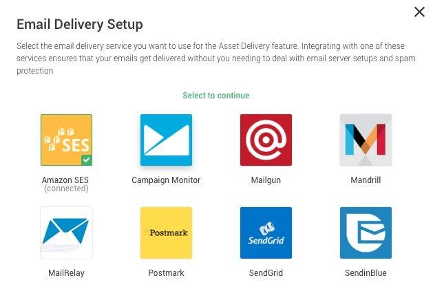 Opciones de Email delivery setup en Thrive Leads