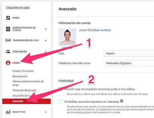 Cómo conectar Analytics con tu canal de Youtube
