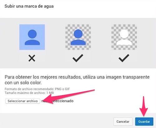 Cómo subir una marca de agua para tus videos en Youtube