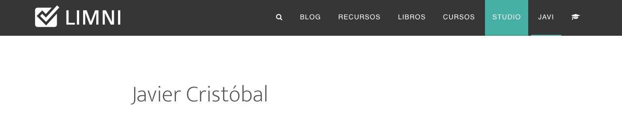 Página sobre mi de un blog con un mal título