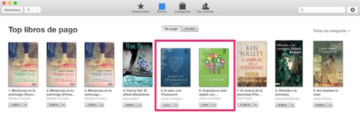 Top 10 de la tienda global de iBooks