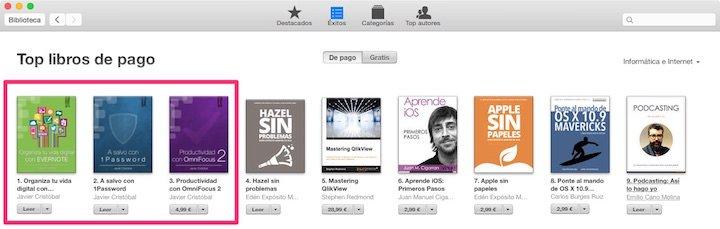 Top 3 de la categoría de tecnología en iBooks