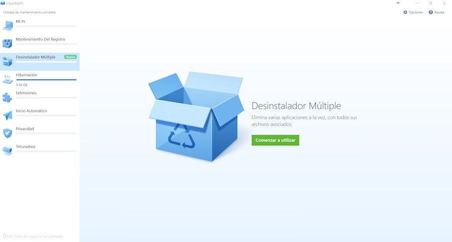 CleanMyPC Desinstalador Multiple