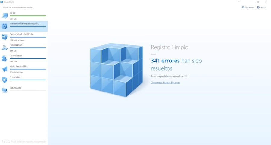 CleanMyPC Registro Limpio