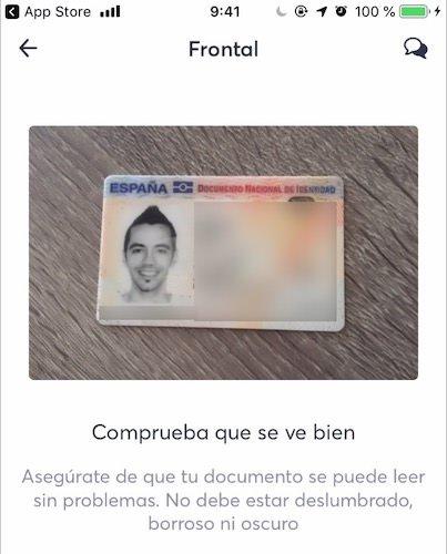 Verificar identidad en BNext
