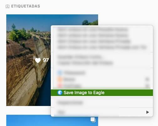 Captura con menu contextual