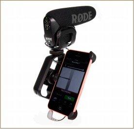 Rode VideoMic Pro conectado a iPhone con Rode SC4