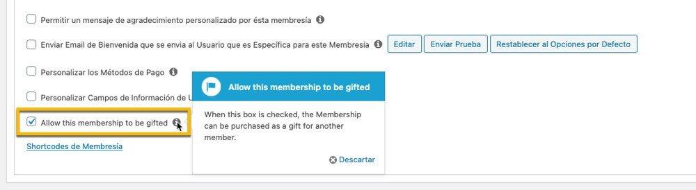 Como regalar una membresia o curso con memberpress