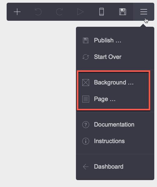 Configurar pagina y fondo en carrd